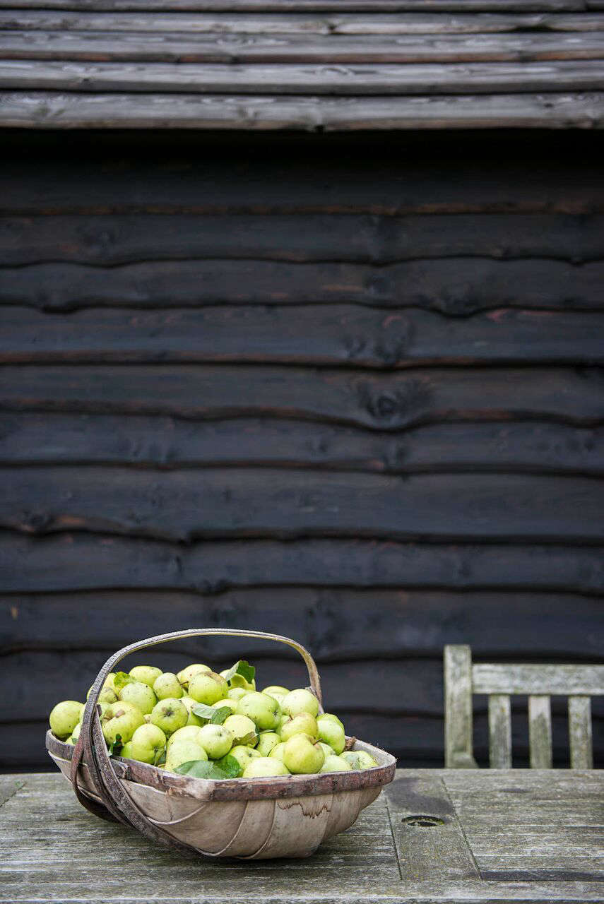 apples in a wooden trug | remodelista 11