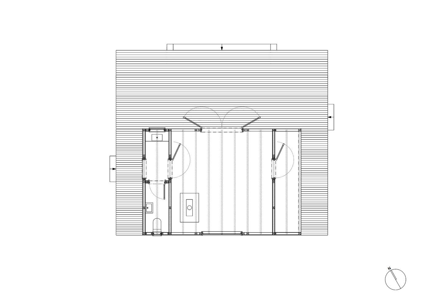 woodland cabin in belgium floor plan, designed and built by london architecture 19