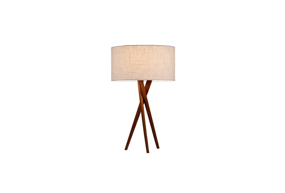 The Adesso Brooklyn Table Lamp in Light Walnut is $6 at Lighting New York.