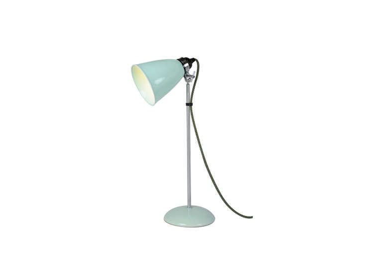 the btc hector medium table lamp in light green is \$359 at horne. 10