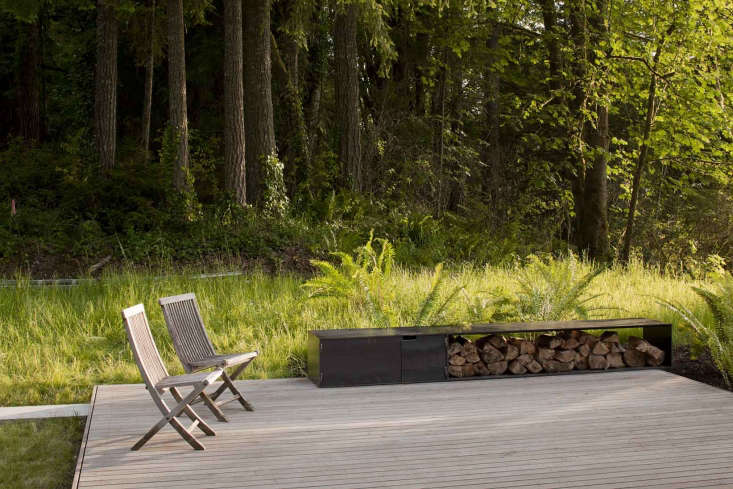 A Puget Sound Cabin That Rests Lightly on the Landscape The kitchen opens directly onto the ipe deck.