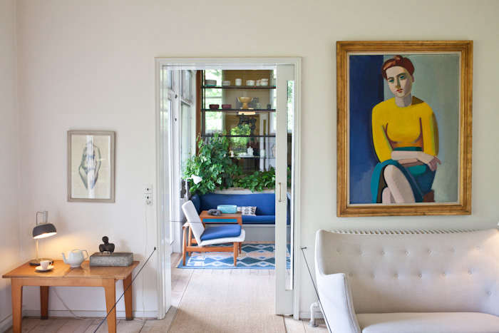 A painting by Vilhelm Lundstrom hangs above Juhl&#8
