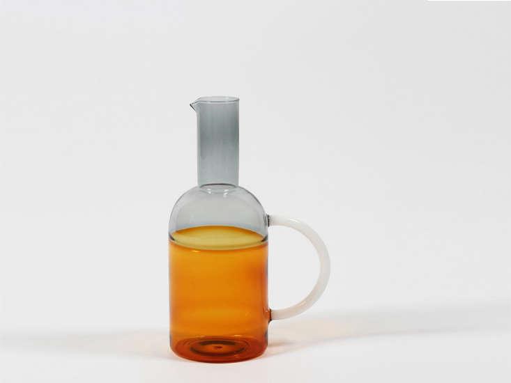 ichendorf milano orange and grey jug 16