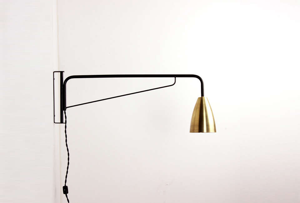 OneFortyThree Brass Wall Sconce