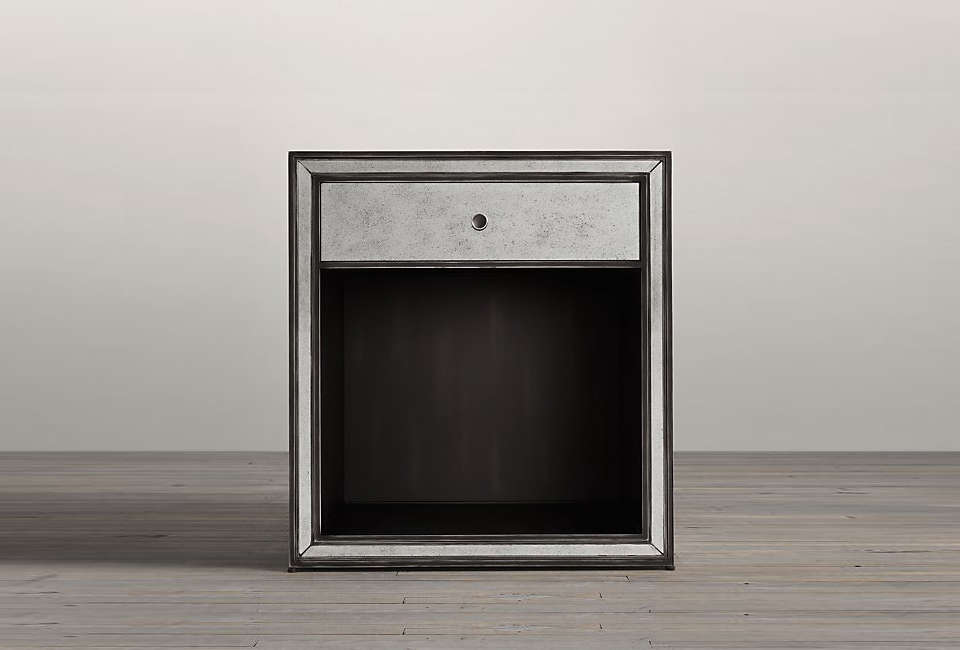 The Strand Mirrored Open Nightstand is $loading=