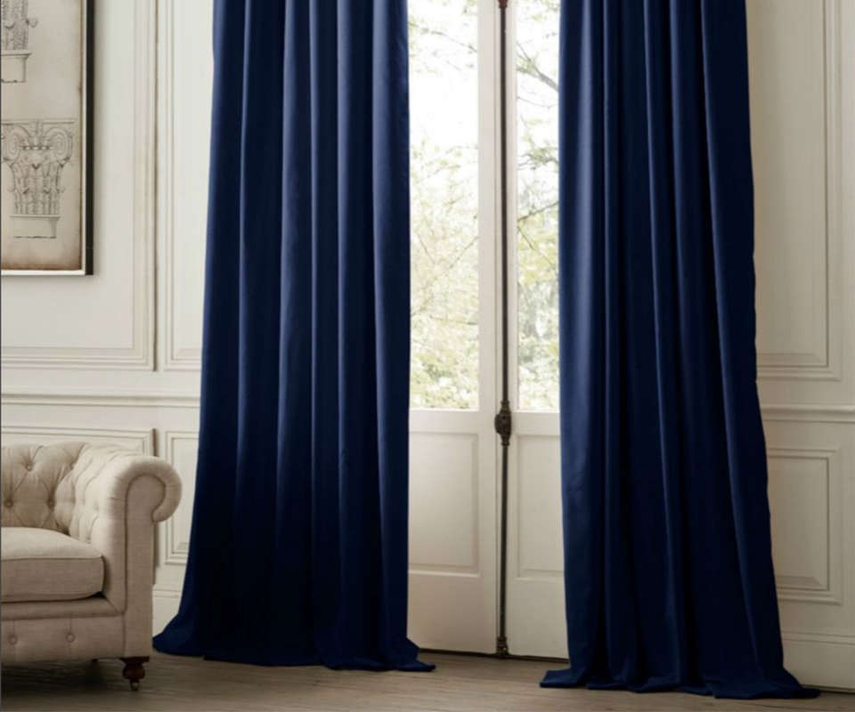 Restoration Hardware Velvet Curtains