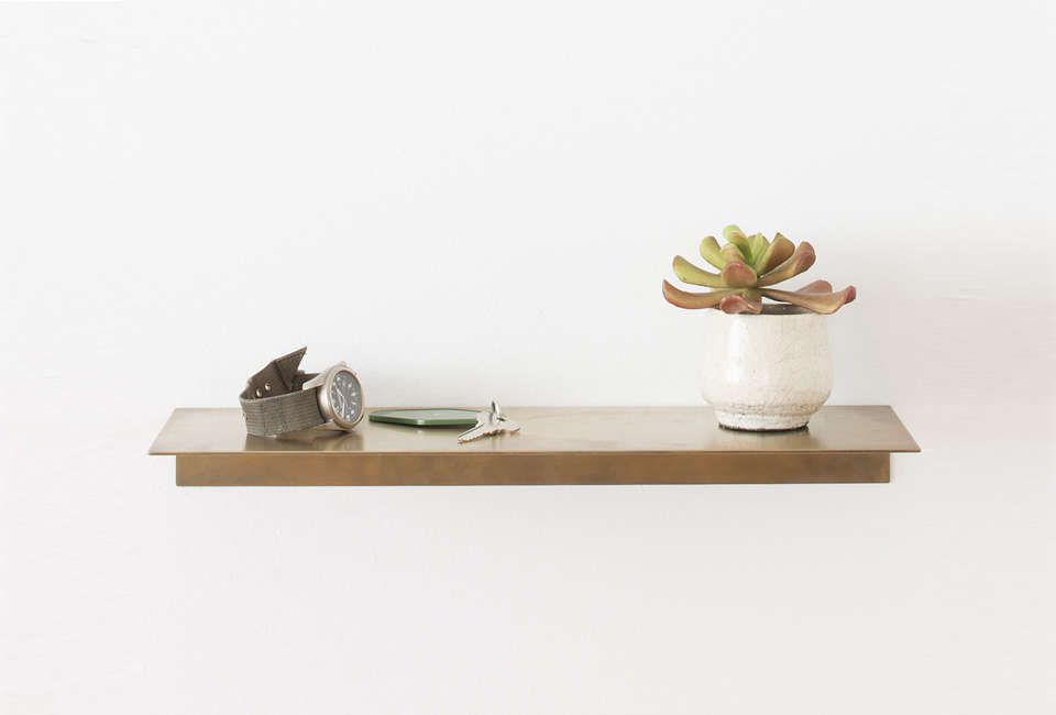 Schoolhouse Electric Brass Shelf