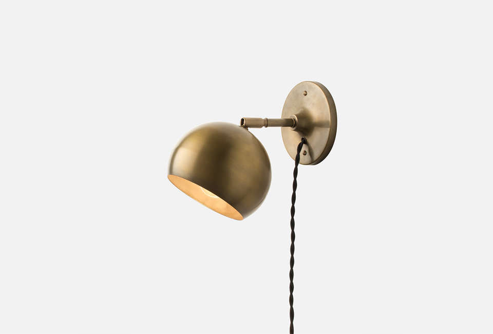 schoolhouse electric isaac plug in wall sconce 11