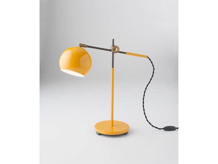 schoolhouse electric&#8\2\17;s studio desk lamp in yellow is \$\2\25. 16