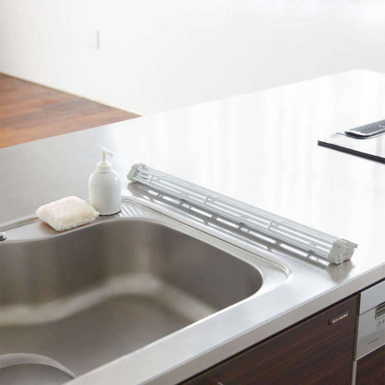 Genius LowCost Storage Solutions from Japan Yamazaki Plate Folding Sink Drainer