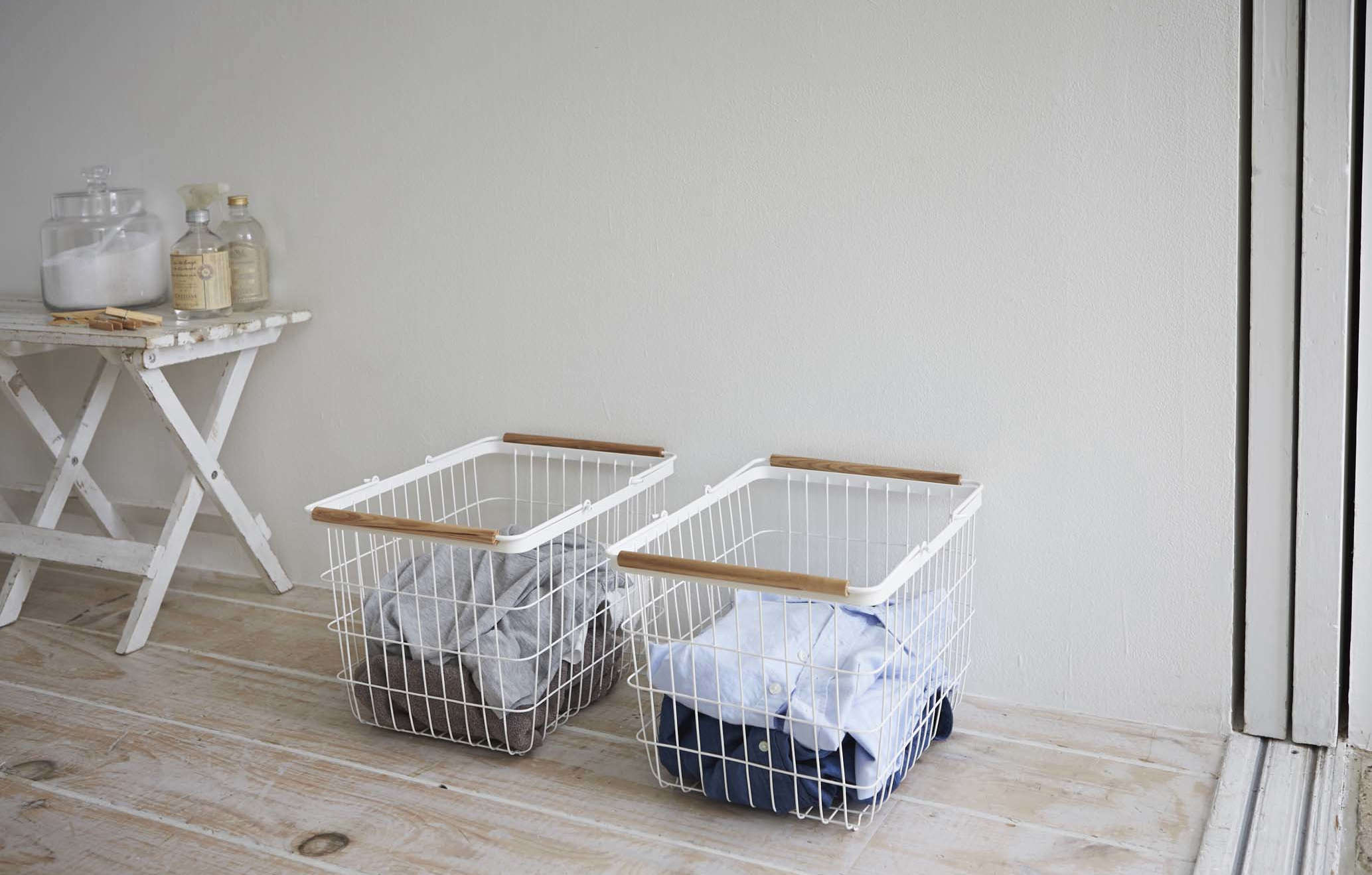 Genius LowCost Storage Solutions from Japan Yamazaki Tosca Laundry Basket