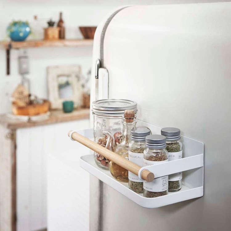 Genius LowCost Storage Solutions from Japan Yamazaki Tosca Magnetic Spice Rack