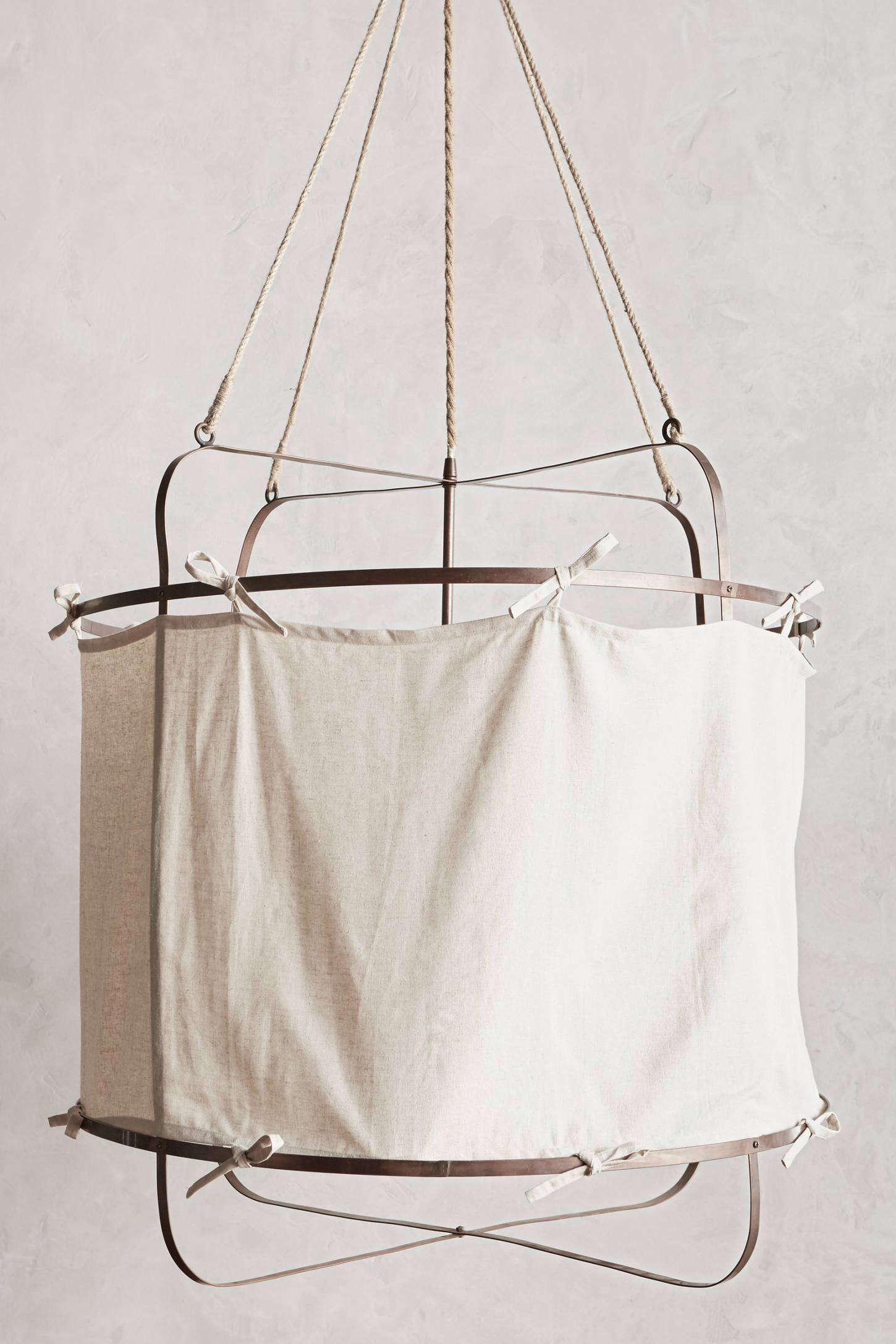 HighLow Fabric Hoop Ceiling Light Fixture 2cotton hoop light fixture anthropologie