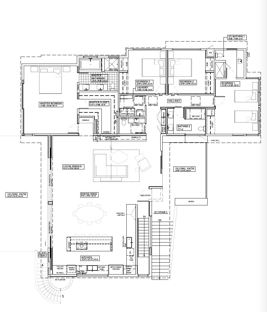 Midcentury ranch remodel floor plan by Barbara Bestor Architecture   Remodelista