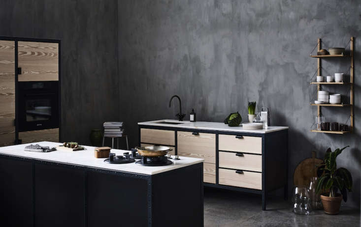 Interiors and product design house Frama, based inCopenhagen, has developed a modular kitchen systemcomprised of a few basic parts: a credenza, a tall cabinet, and a narrowside cabinet. Read more inKitchen of the Week: Frama Copenhagen's Studio Kitchen.