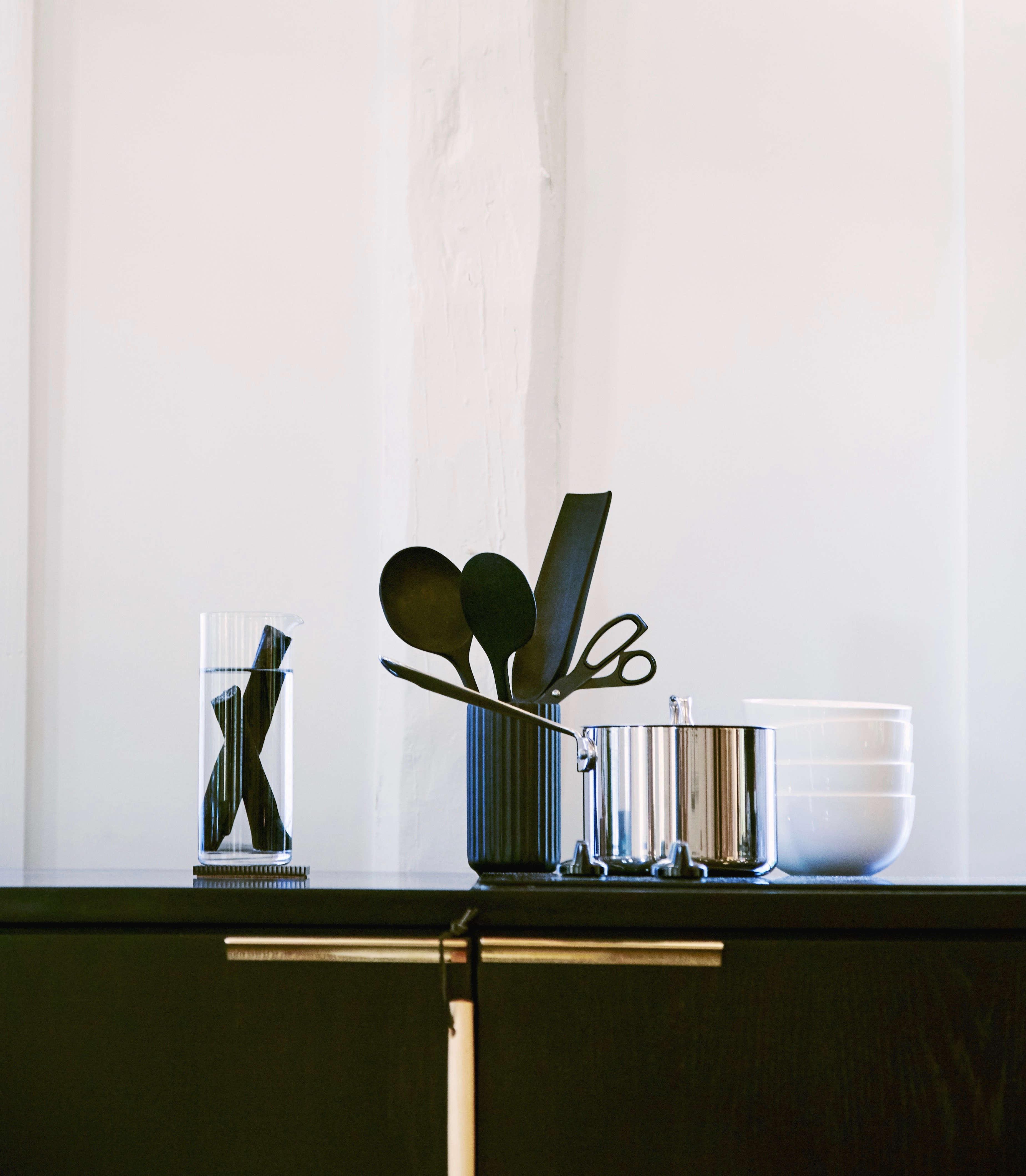 black kitchen accessories at the line amagansett | remodelista 13