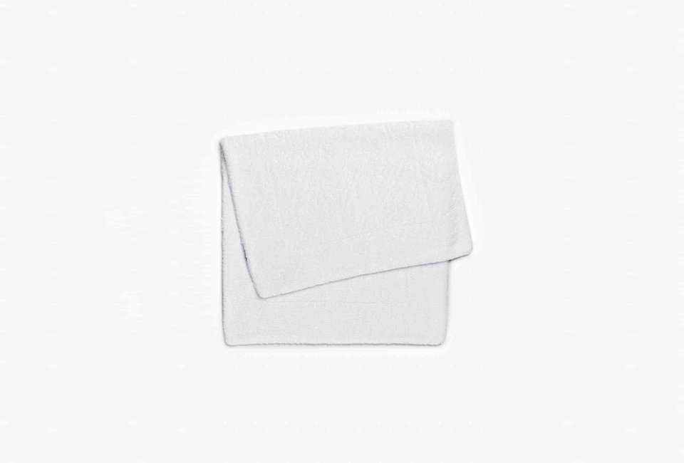 Abyss & Habidecor White Double Tub Mat