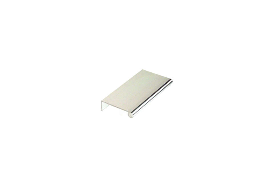 10 Easy Pieces Silver Finish Edge Pulls Aluminum Edge Pull in Polished Aluminum