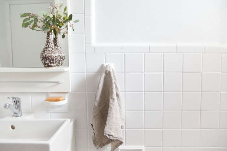 The goal: sparkling-clean grout, as in Athena Calderone&#8
