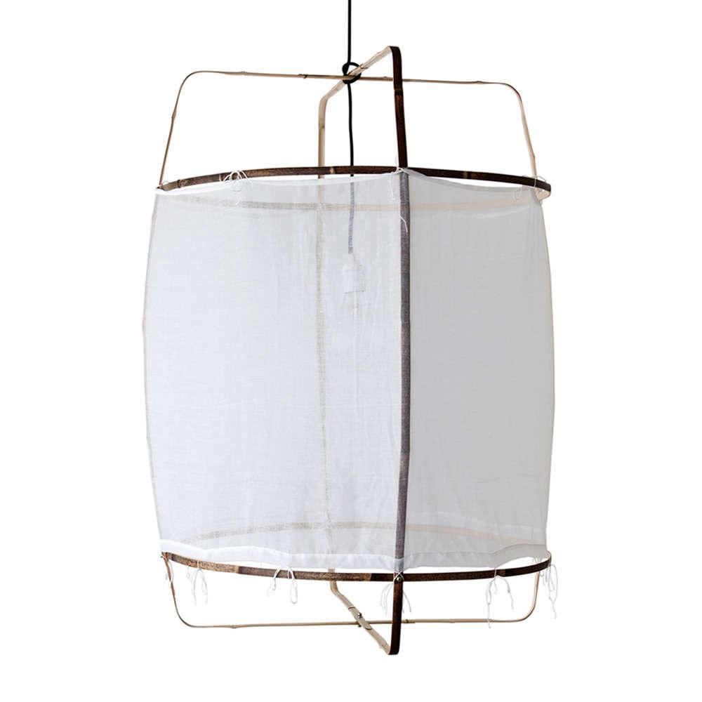 HighLow Fabric Hoop Ceiling Light Fixture aye illuminate pendant remodelista 10