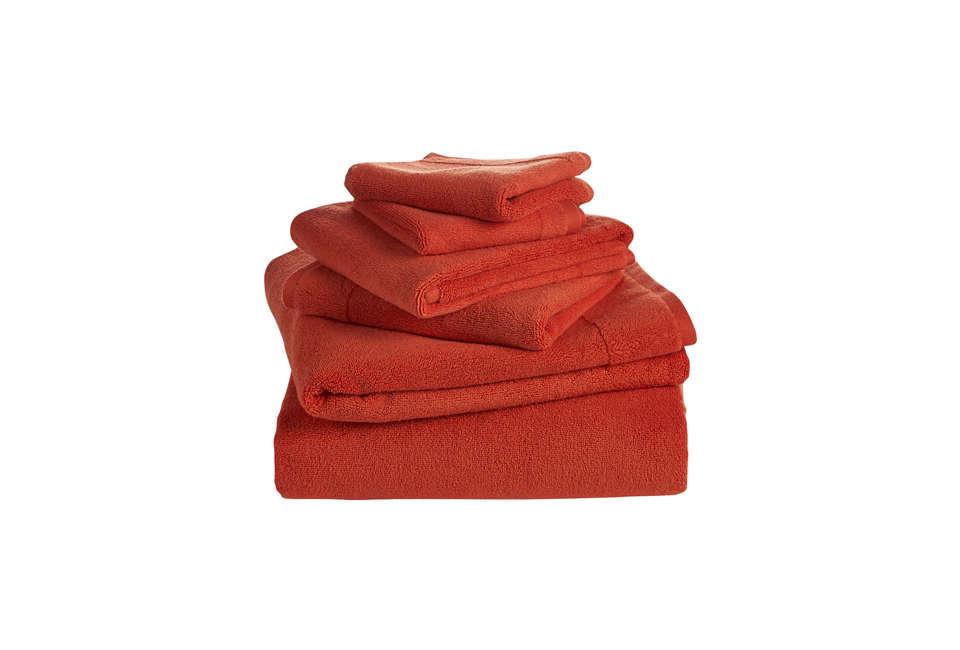 CB2 Smith Orange Bath Towel