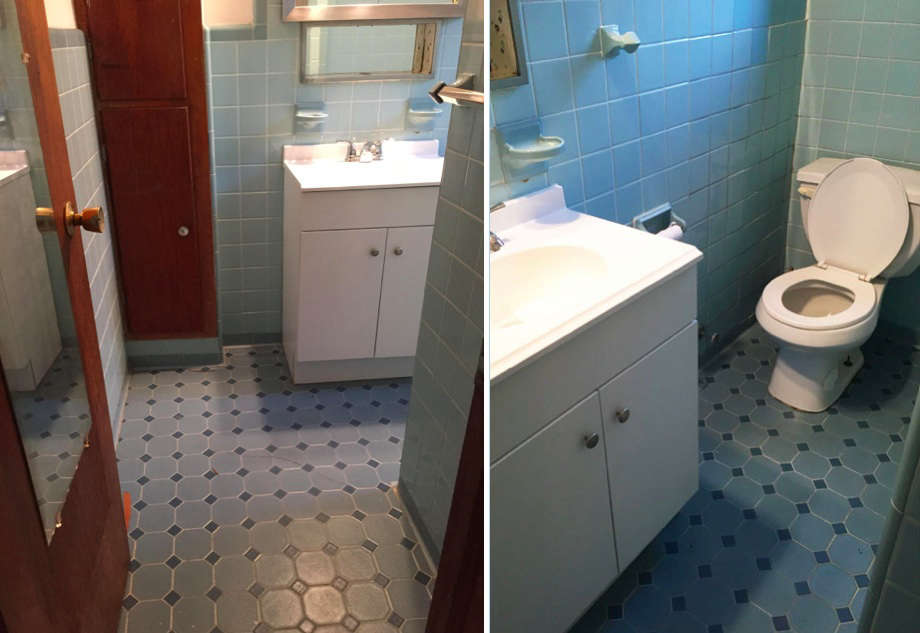The bathroom before.