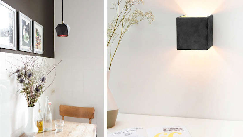 Subtly Glamorous Concrete Lights from Berlin gant light fixtures remodelista
