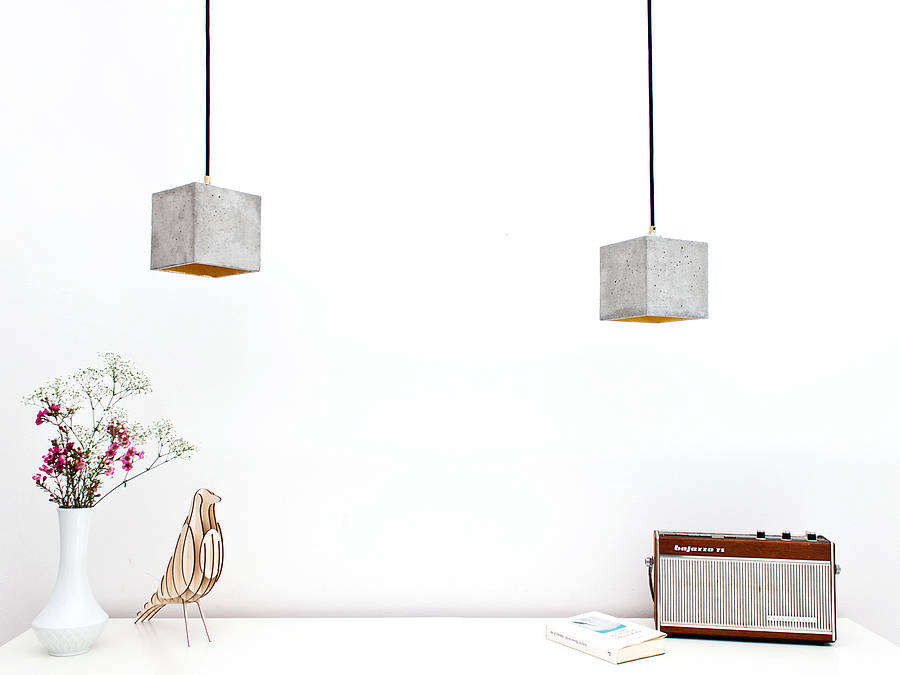 Subtly Glamorous Concrete Lights from Berlin gant pendants remodelista