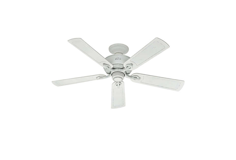 hunter traditional white ceiling fan 17