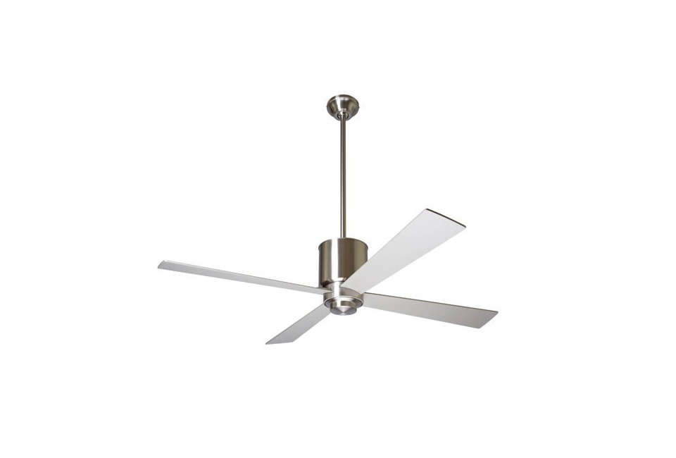 thelapa ceiling fan,designedby ron rezek, comes in three body finishes (s 12