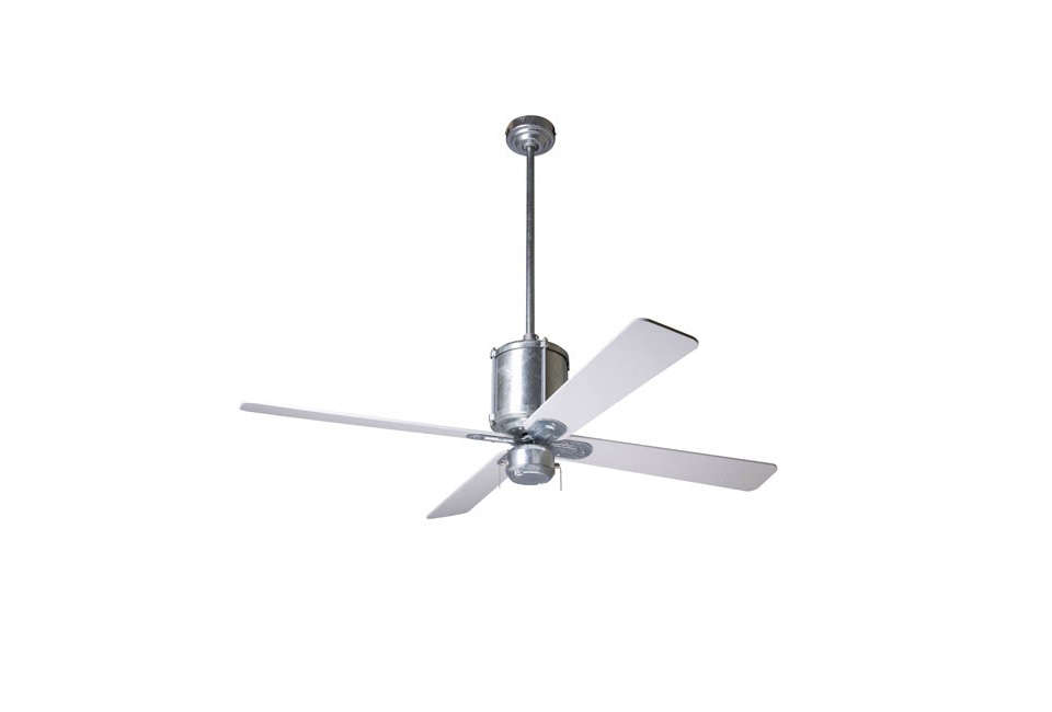 the industry fan by the modern fan company in galvanized steel; \$4\1\2 atyli 9