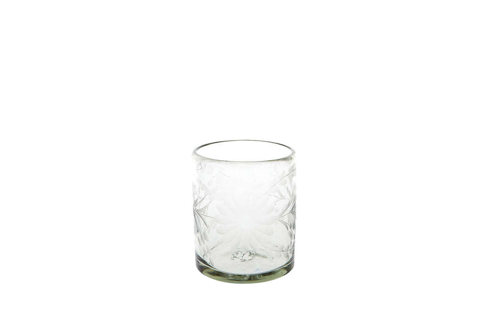 Rose Ann Hall Etched Glassware