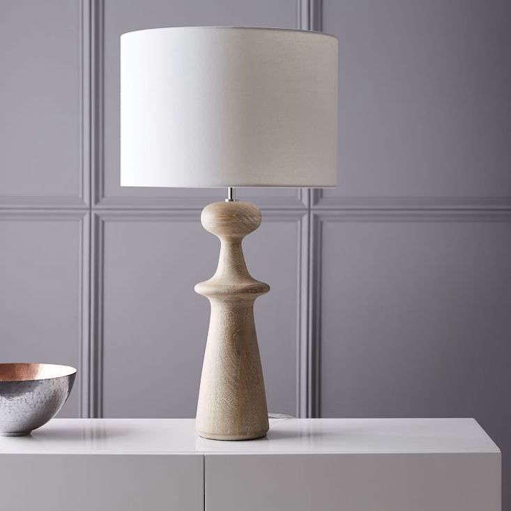 west elm turned wood lamp 18