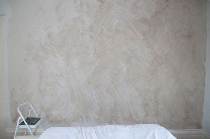 DIY Project Limewashed Walls for Modern Times DIY lime wash C first coat stil wet C by Justine Hand for Remodelista