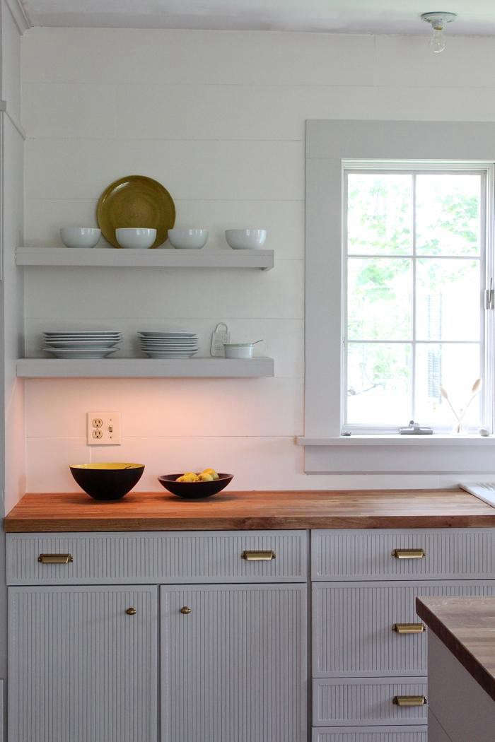 Shiplap in the kitchen; see Rehab Diary: Dream Kitchen for Under $3,000.