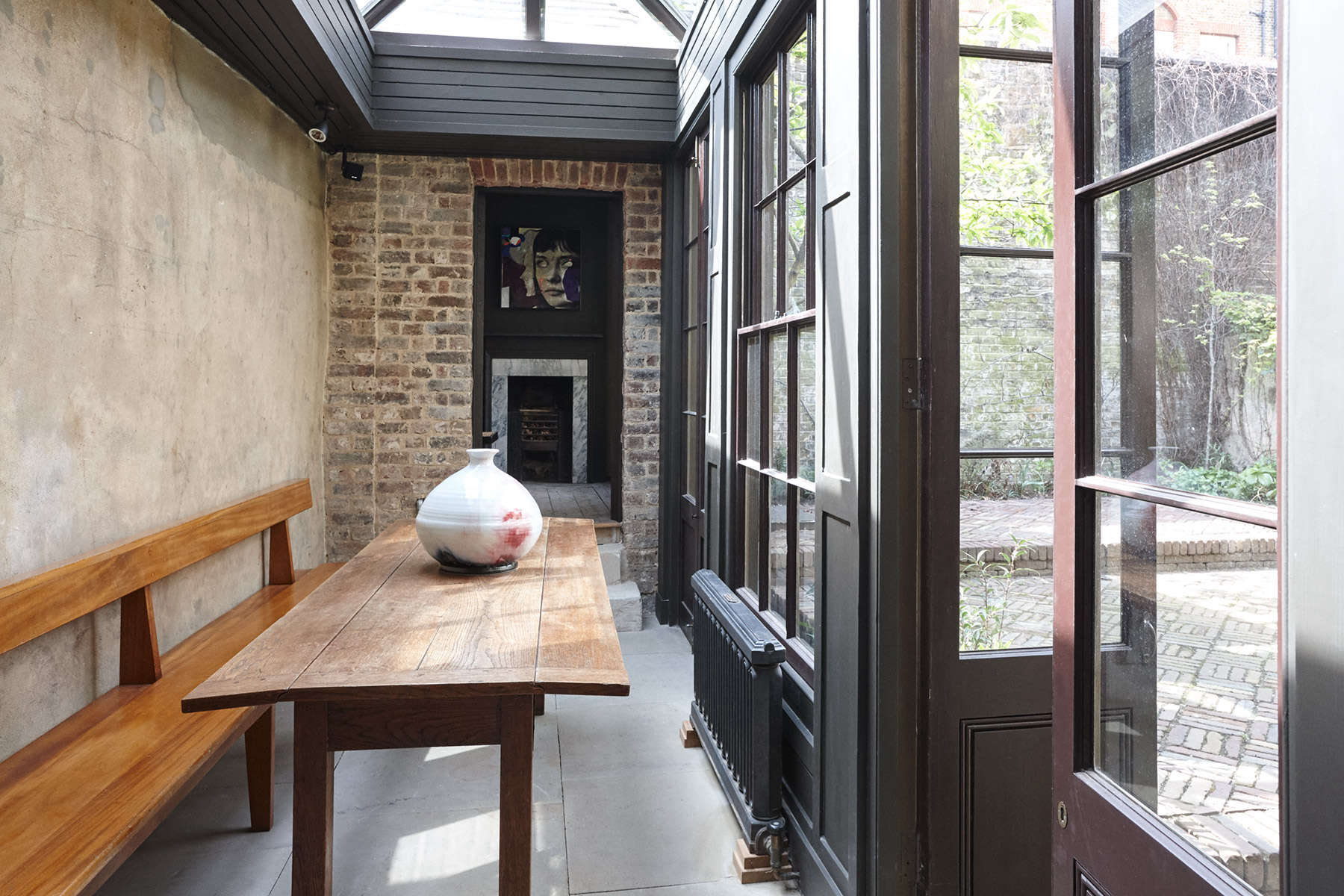 Solarium at The New Road Residence in London, a curated rental house where everything is for sale | Remodelista