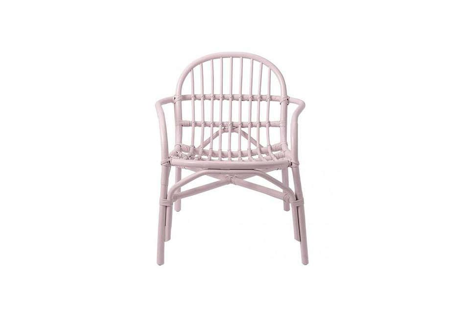 bloomingville blush pink rattan chair 14