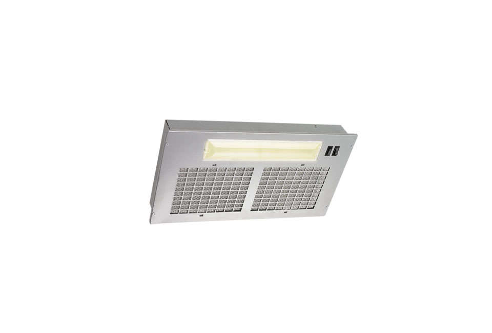 Steal This Look Smart Storage in a Swedish Kitchen For a similar vent, considerthe Broan PM Series \20 Inch Custom Hood Power Module. The hood is available with a non ducted filter kit to purchase separately; it&#8\2\17;s \$\139 at AJ Madison.
