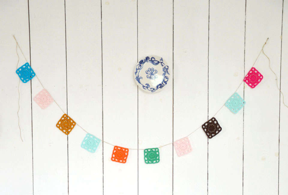 Crocheted Bunting Garland