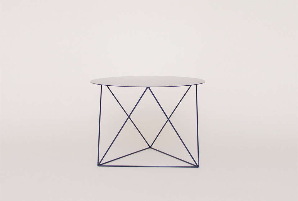 eric trine octadedron side table in black 14