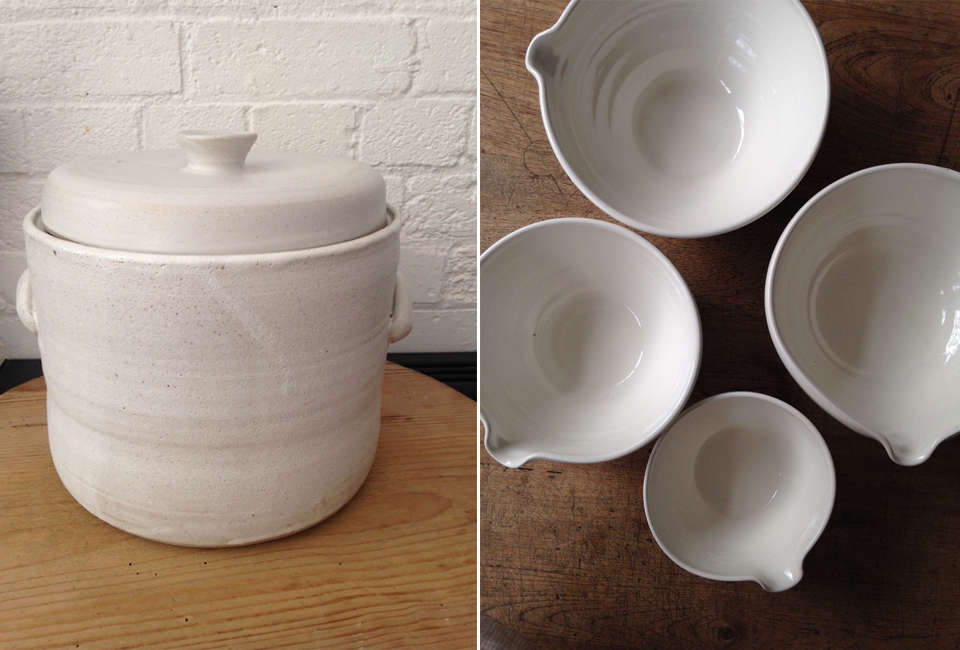 fermentation crock and bowls from vessel & time 12