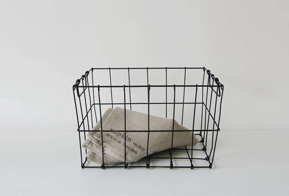 fog linen work market wire basket 26
