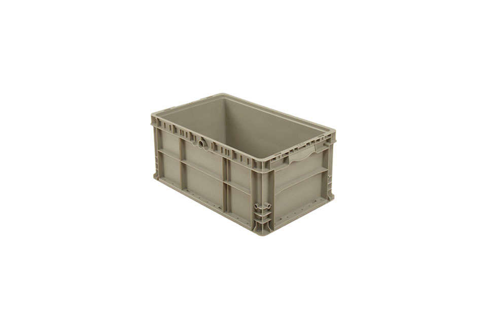 Steal This Look Smart Storage in a Swedish Kitchen The Straight Wall Container in solid gray is \$\16.50 at Global Industries.