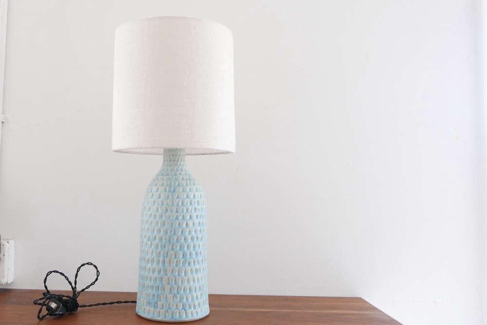 victoria morris light blue lamp 12