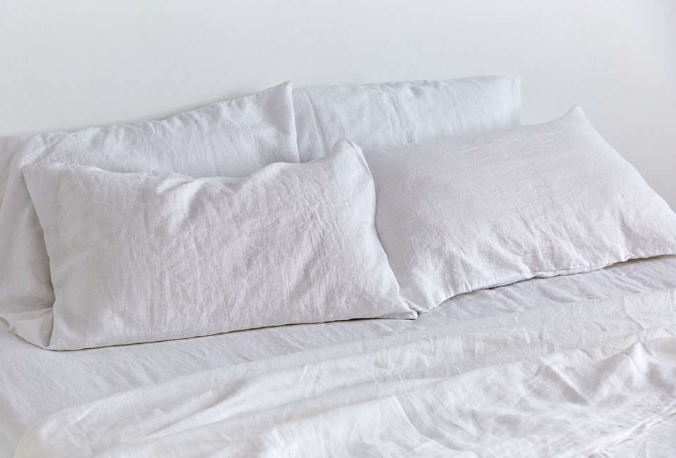 in bed white fitted sheet 20