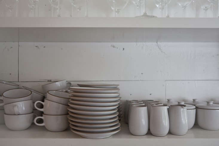 The couple collects the Coupe Line from Heath Ceramics; prices start at $ for a Coupe Dessert Bowl. Photograph by Michael Muller for Remodelista.