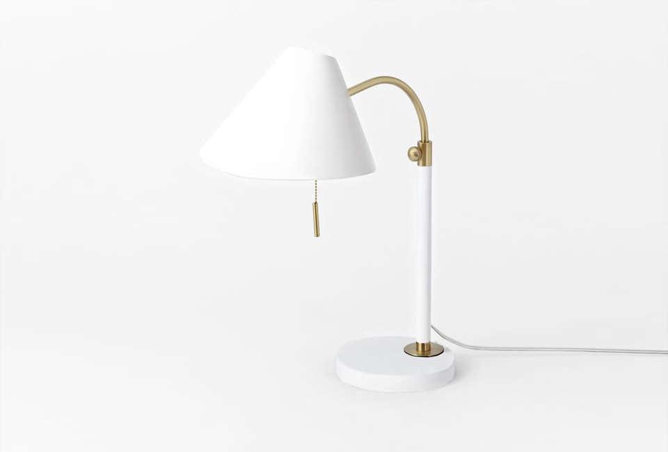 midcentury task table lamp in white 18
