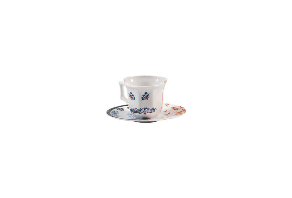 The Hybrid Leonia Espresso Cup With Saucer by Seletti is similarto the tea cup used as salt cellar on the kitchen counter; $4