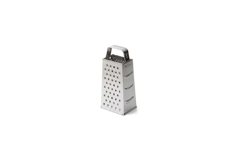 The Tablecraft Stainless Steel 4-Sided Grater is $5.99 at Restaurant Supply.