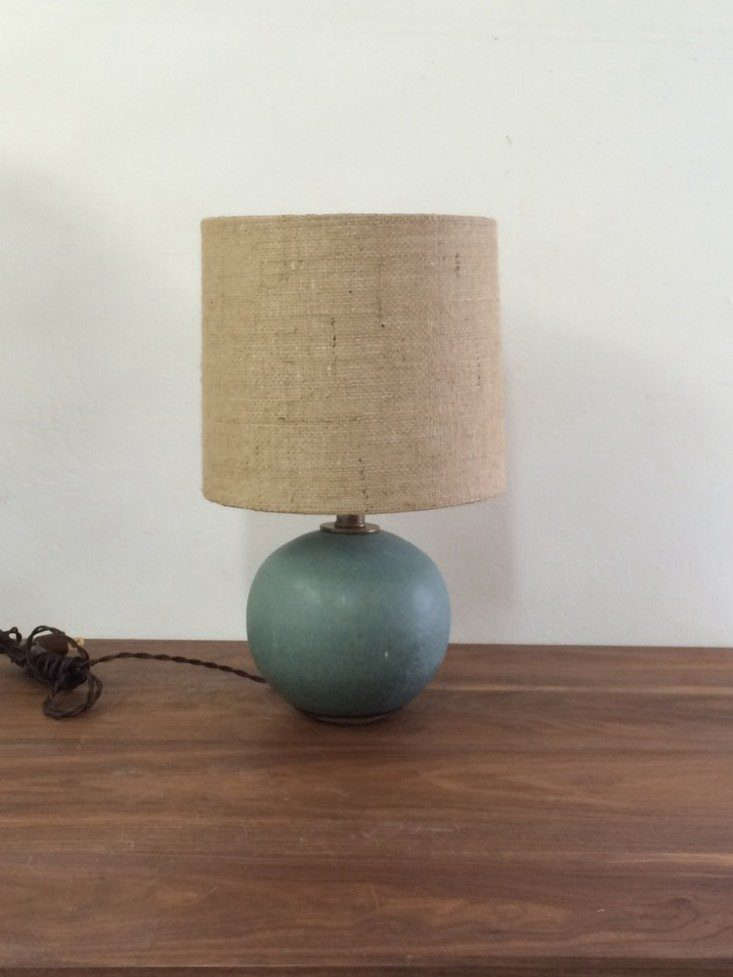 victoria morris soft blue sphere lamp remodelista 733x977 14